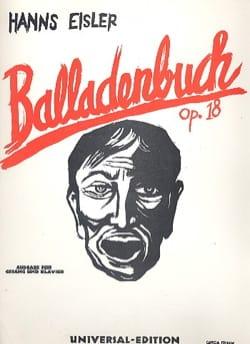Hanns Eisler - Balladenbuch Op. 18 - Partition - di-arezzo.fr