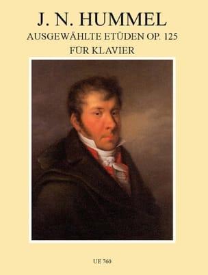 Etuden Opus 125 - Johann Nepomuk Hummel - Partition - laflutedepan.com