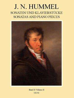 Sonaten und Klavierstücke, Band II HUMMEL Partition laflutedepan