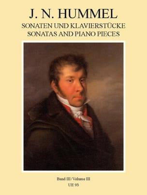Sonaten und Klavierstücke, Band III HUMMEL Partition laflutedepan
