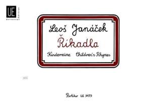 Rikadla JANACEK Partition Musique de chambre vocale - laflutedepan