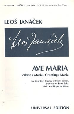 Leos Janacek - Ave Maria - Sheet Music - di-arezzo.co.uk