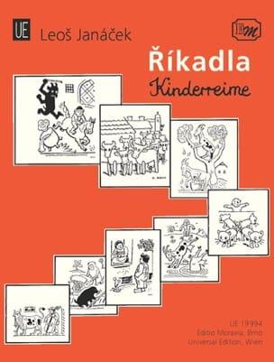 Rikadla - Kinderreime JANACEK Partition Chœur - laflutedepan