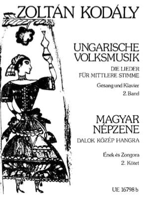 Ungarische Volksmusik. Volume 2 - KODALY - laflutedepan.com