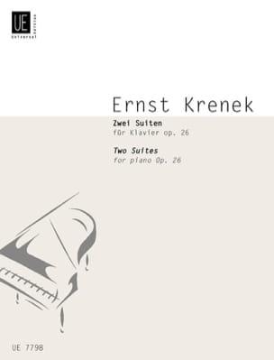 Ernst Krenek - 2 Suites Op. 26 1924 - Partition - di-arezzo.fr