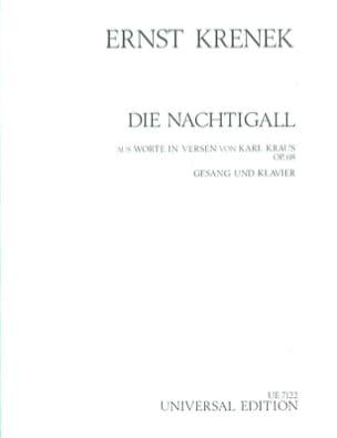 Ernst Krenek - Die Nachtigall Op. 68 - Partition - di-arezzo.fr