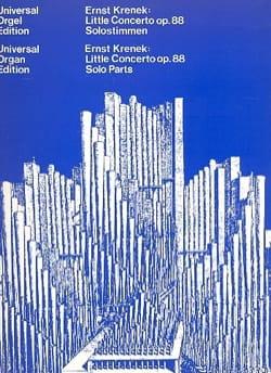 Ernst Krenek - Petit Concerto Op. 88 1939/40 - Partition - di-arezzo.fr
