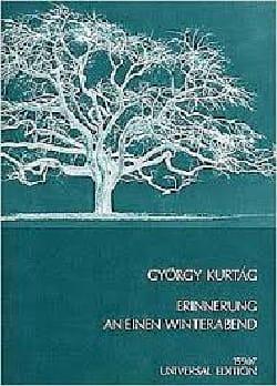 György Kurtag - Erinnerung An Einen Winterabend Op. 8 (1969) - Partition - di-arezzo.fr