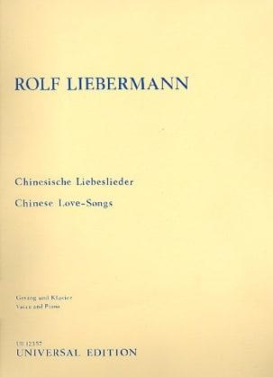 Chinesische Liebeslieder - Rolf Liebermann - laflutedepan.com