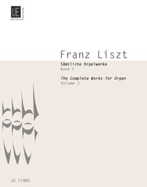 Oeuvre D'orgue Volume 3 LISZT Partition Orgue - laflutedepan