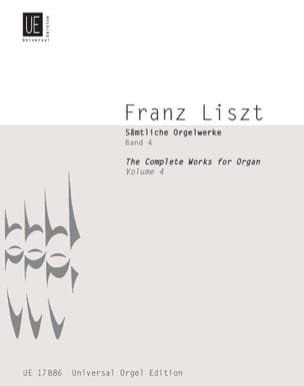 Franz Liszt - Oeuvre D'orgue Volume 4 - Partition - di-arezzo.fr