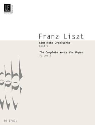 Oeuvres Pour Voix et Orgue. Volume 9 - Franz Liszt - laflutedepan.com