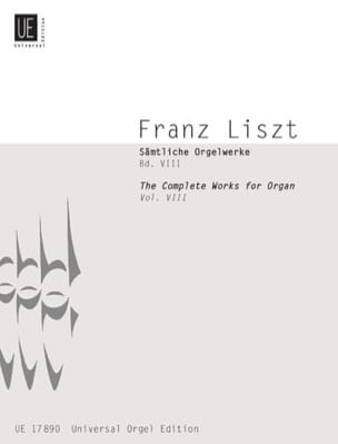 Franz Liszt - Organ and Solo Instrument. Volume 8 - Sheet Music - di-arezzo.co.uk