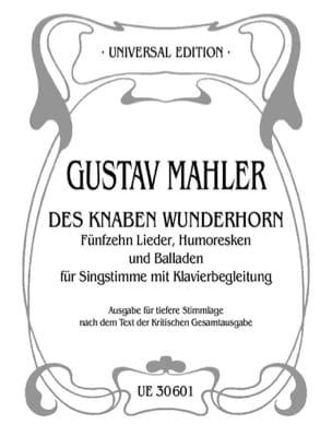 Des Knaben Wunderhorn. Voix Grave Gustav Mahler Partition laflutedepan