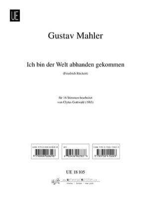 Ich bin der Welt abhanden gekommen Gustav Mahler laflutedepan