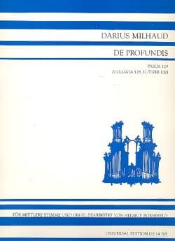 De Profundis Psalm 129 1919 MILHAUD Partition Duos - laflutedepan