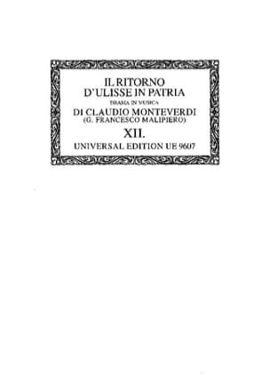 Claudio Monteverdi - He Ritorno D'ulisse In Patria. OC12 - Sheet Music - di-arezzo.co.uk