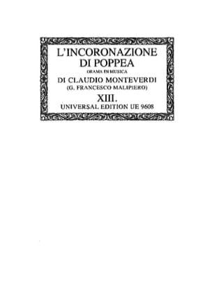 L'incoronazione Di Poppea. Oc13 MONTEVERDI Partition laflutedepan
