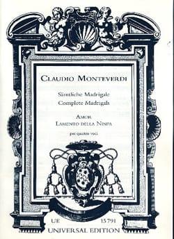 Claudio Monteverdi - Amor. Extrait Du Lamento Della Ninfa - Partition - di-arezzo.fr