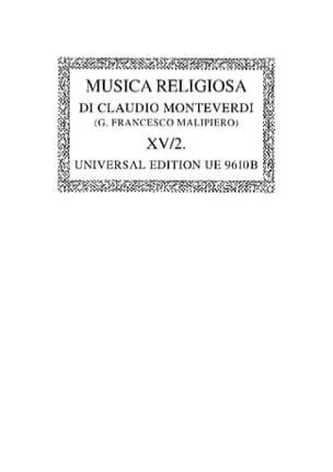 Claudio Monteverdi - Musica Religiosa (1640/41). Oc15/2 - Partition - di-arezzo.fr