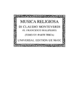Claudio Monteverdi - Musica Religiosa (1640/41). Oc15/3 - Partition - di-arezzo.fr