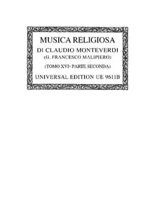 Claudio Monteverdi - Musica Religiosa : Psalmi E Fragmenti 1649. Oc16/2 - Partition - di-arezzo.fr