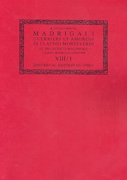 Canti Guerrrieri ; Madrigali Libro 8 (1638). Oc8/1 - laflutedepan.com
