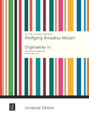 Oeuvre d'Orgue Volume 4 MOZART Partition Orgue - laflutedepan