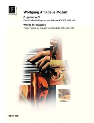Oeuvre d'Orgue Volume 5. 4 Mains. MOZART Partition laflutedepan