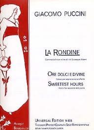 La Rondine : Ore Dolci E Divine - Giacomo Puccini - laflutedepan.com