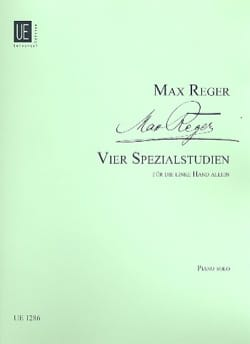 4 Spezialstudien. Max Reger Partition Piano - laflutedepan