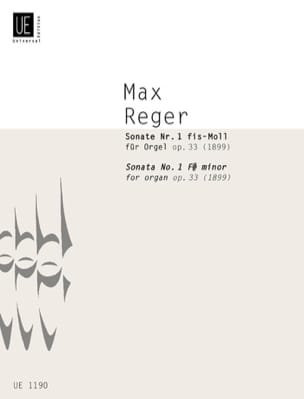 Max Reger - 1st Sonata F sharp minor Op. 33 - Sheet Music - di-arezzo.com