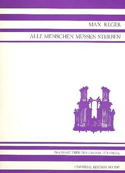Max Reger - Fantasy on Alle Menschen Müssen Sterben Op. 52-1 - Sheet Music - di-arezzo.co.uk