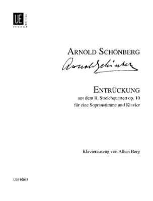 Entrückung Opus 10 Arnold Schoenberg Partition Mélodies - laflutedepan