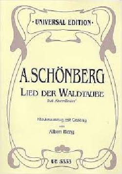 Lied der Waldtaube Arnold Schoenberg Partition Mélodies - laflutedepan