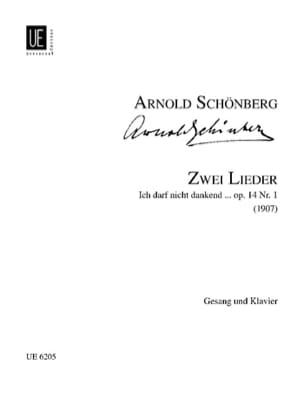 Arnold Schoenberg - 2 Lieder Op. 14-1 - Partition - di-arezzo.fr