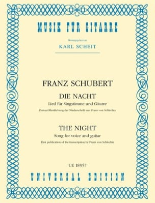 SCHUBERT - Die Nacht - Sheet Music - di-arezzo.com