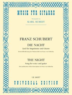 Die Nacht SCHUBERT Partition Guitare - laflutedepan