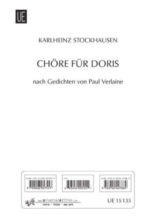 Karlheinz Stockhausen - ドリス(ChorrefürDoris) - 楽譜 - di-arezzo.jp