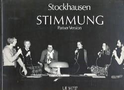 Karlheinz Stockhausen - Stimmung - Partition - di-arezzo.fr