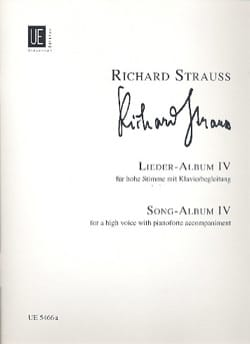 Richard Strauss - Lieder Album Volume 4. Voix Haute - Partition - di-arezzo.fr