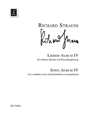 Richard Strauss - Lieder Album Volume 4. Voix Moyenne - Partition - di-arezzo.fr