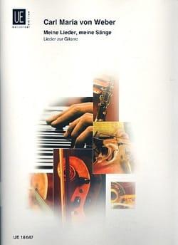 Carl Maria von Weber - Meine Lieder, meine Sänge - Partition - di-arezzo.fr