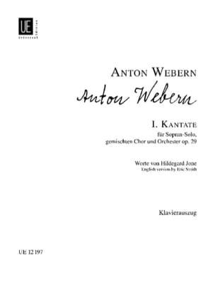 Anton Webern - 1. Kantate - Partition - di-arezzo.fr