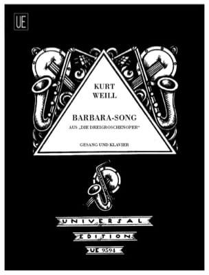 Kurt Weill - Barbara-Song. Die Dreigroschenoper - Partition - di-arezzo.fr