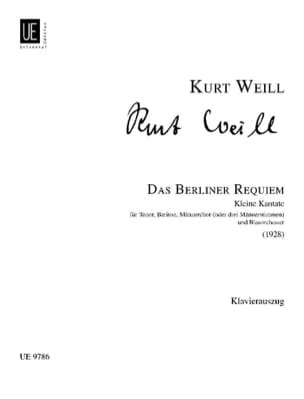 Kurt Weill - Das Berliner Requiem - Partition - di-arezzo.fr