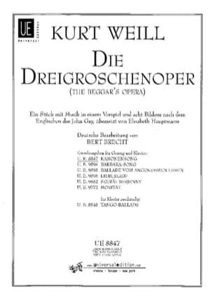 Kanonensong. Die Dreigroschenoper - Kurt Weill - laflutedepan.com