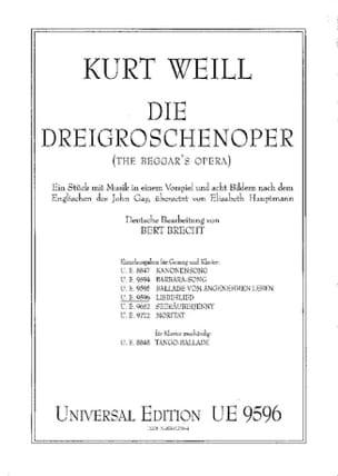 Liebeslied. Die Dreigroschenoper - Kurt Weill - laflutedepan.com