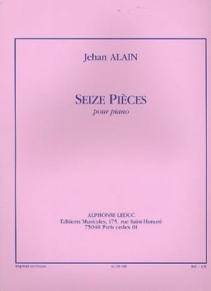 Jehan Alain - 16 Pièces - Partition - di-arezzo.fr