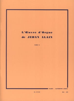 Jehan Alain - Oeuvre D'orgue. Volume 2 - Partition - di-arezzo.fr